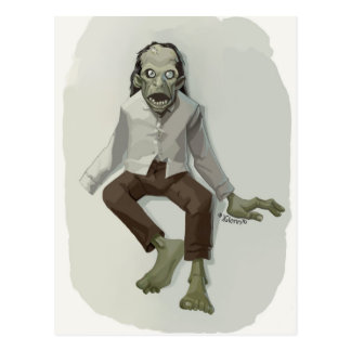 zombie joe postcard