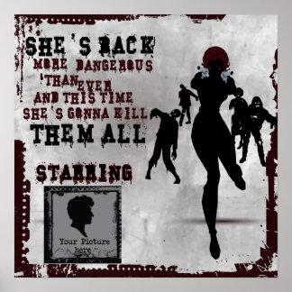 Zombie killer girl - movie poster posters