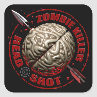 Zombie Killer Square Sticker