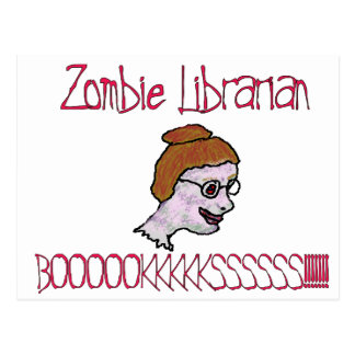 Zombie Librarian Postcard