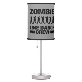 Zombie Line Dance Crew Table Lamps
