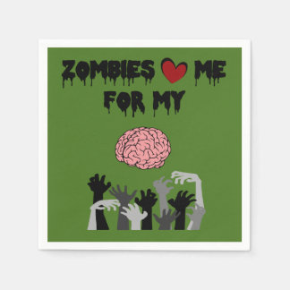 Zombie Love Disposable Napkin