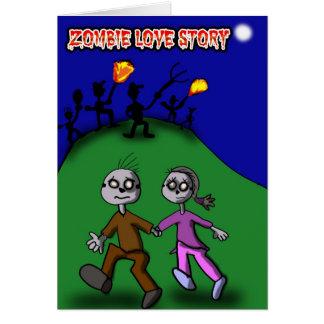 Zombie Love Story Card