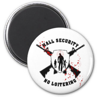 Zombie Mall Security Magnet