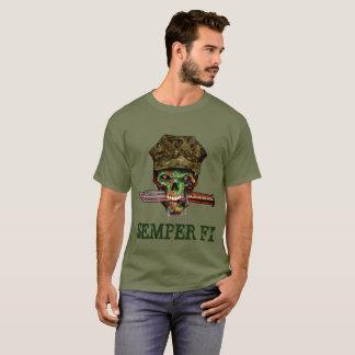 Zombie Marine Dagger, Semper Fi, Customize, T-Shirt