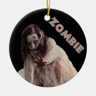 Zombie married ceramic ornament