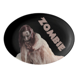 Zombie married porcelain serving platter