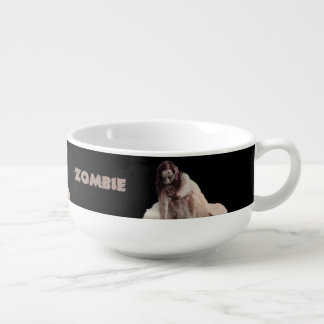 Zombie married soup bowl with handle