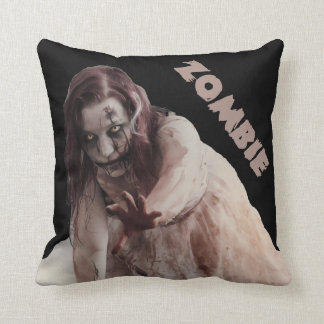 Zombie married throw pillow