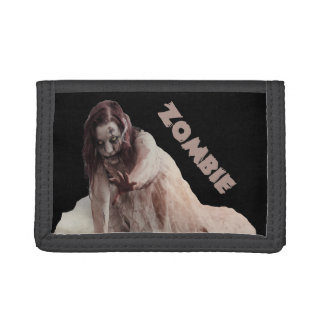 Zombie married trifold wallet