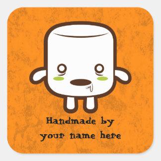 Zombie Marshmallow Square Sticker