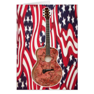 Zombie Meat Guitar Greeting Card