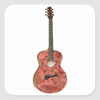 Zombie Meat Guitar Square Sticker