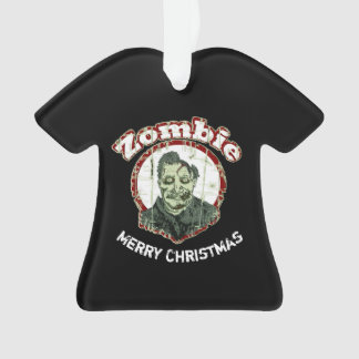 Zombie Merry ChristmasRetro-Red & Green Distressed