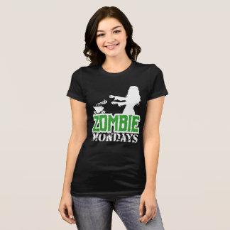 Zombie Mondays - Lady Zombie Chasing Coffee T-Shirt