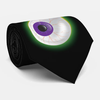 Zombie Monster Glowing Floating Eye Halloween Fun Tie