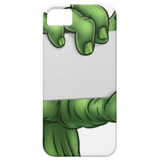 Zombie Monster Halloween Hand Holding Blank Sign Case For The iPhone 5