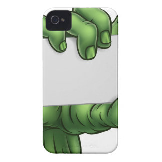 Zombie Monster Halloween Hand Holding Blank Sign iPhone 4 Case-Mate Cases