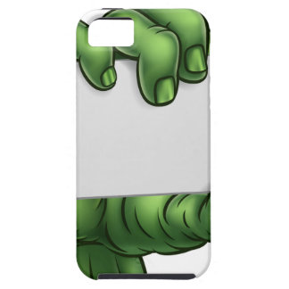 Zombie Monster Halloween Hand Holding Blank Sign iPhone 5 Cases