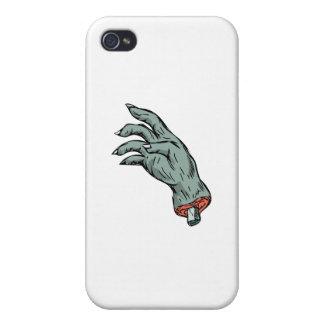 Zombie Monster Hand Drawing iPhone 4 Cases