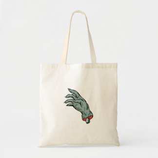 Zombie Monster Hand Drawing Tote Bag