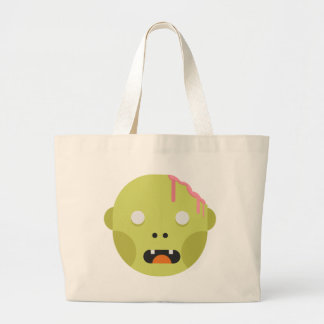 Zombie Monster Head Large Tote Bag