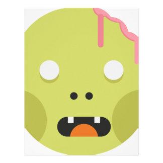 Zombie Monster Head Letterhead