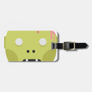 Zombie Monster Head Luggage Tag