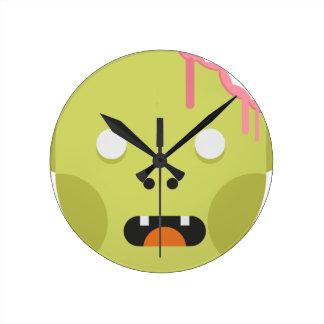 Zombie Monster Head Round Clock