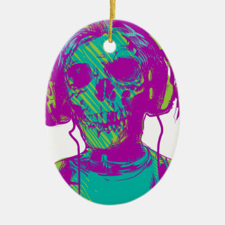 Zombie Music Ceramic Ornament
