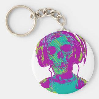 Zombie Music Keychain