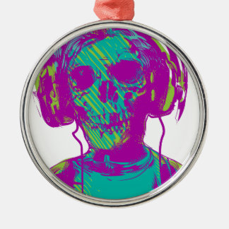 Zombie Music Metal Ornament