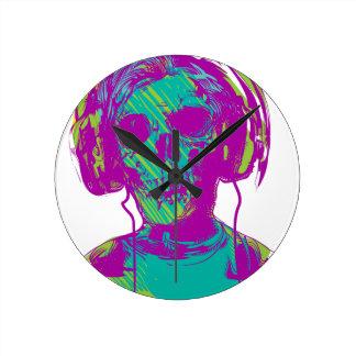 Zombie Music Round Clock