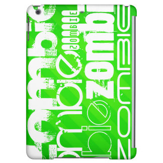 Zombie; Neon Green Stripes iPad Air Cover