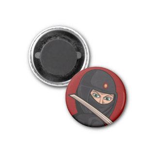 Zombie Ninja Pirate Land 1 Inch Round Magnet
