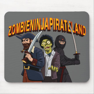 Zombie Ninja Pirate Land Mouse Pad