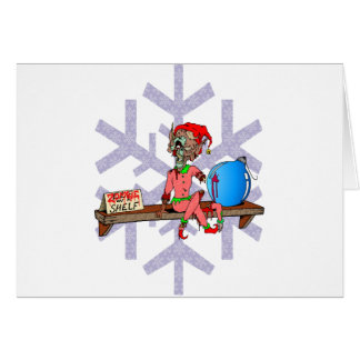 Zombie on a Shelf Greeting Cards