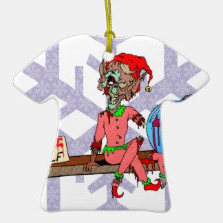 Zombie on a Shelf Ceramic T-Shirt Ornament