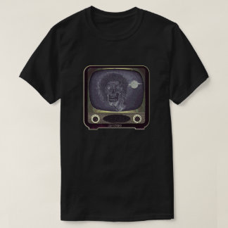 Zombie On TV - Gold T-Shirt