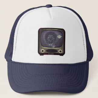 Zombie On TV - Gold Trucker Hat