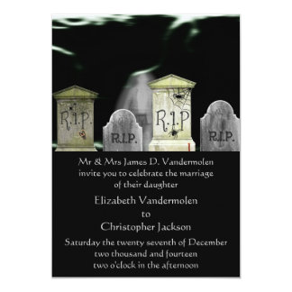 Zombie or Ghost Wedding Invitation