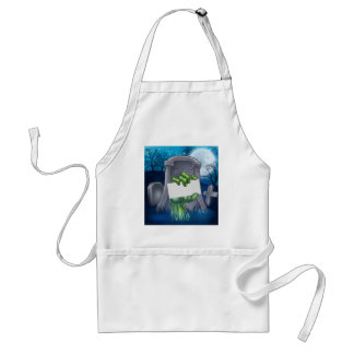 Zombie or Halloween Monster Sign Standard Apron