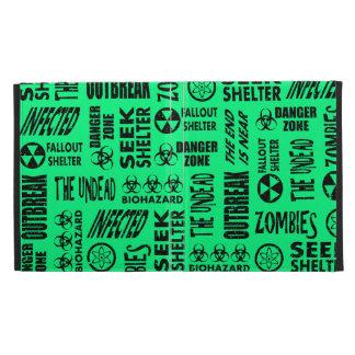Zombie, Outbreak, Biohazard Black Spring Green iPad Folio Cases