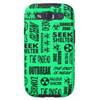 Zombie, Outbreak, Biohazard Black Spring Green Galaxy S3 Case