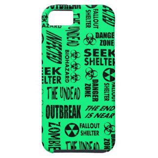 Zombie Outbreak Biohazard Black Spring Green iPhone 5 Case