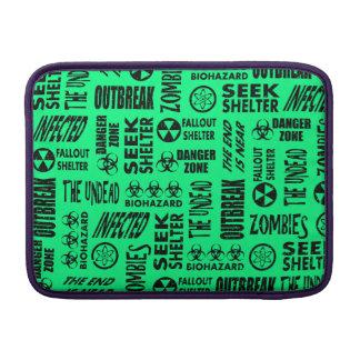 Zombie, Outbreak, Biohazard Black Spring Green MacBook Air Sleeves