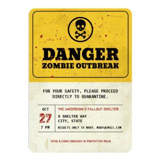 Zombie Outbreak Halloween Party Invitation