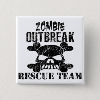 Zombie Outbreak Rescue Team 2 Inch Square Button