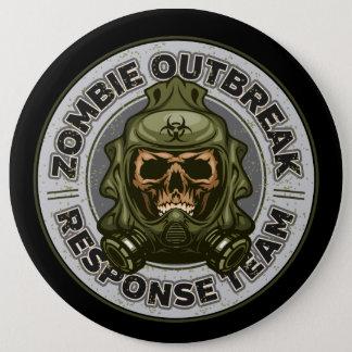 Zombie Outbreak Response Team 6 Inch Round Button