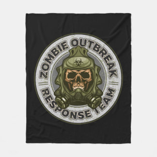 Zombie Outbreak Response Team Fleece Blanket
